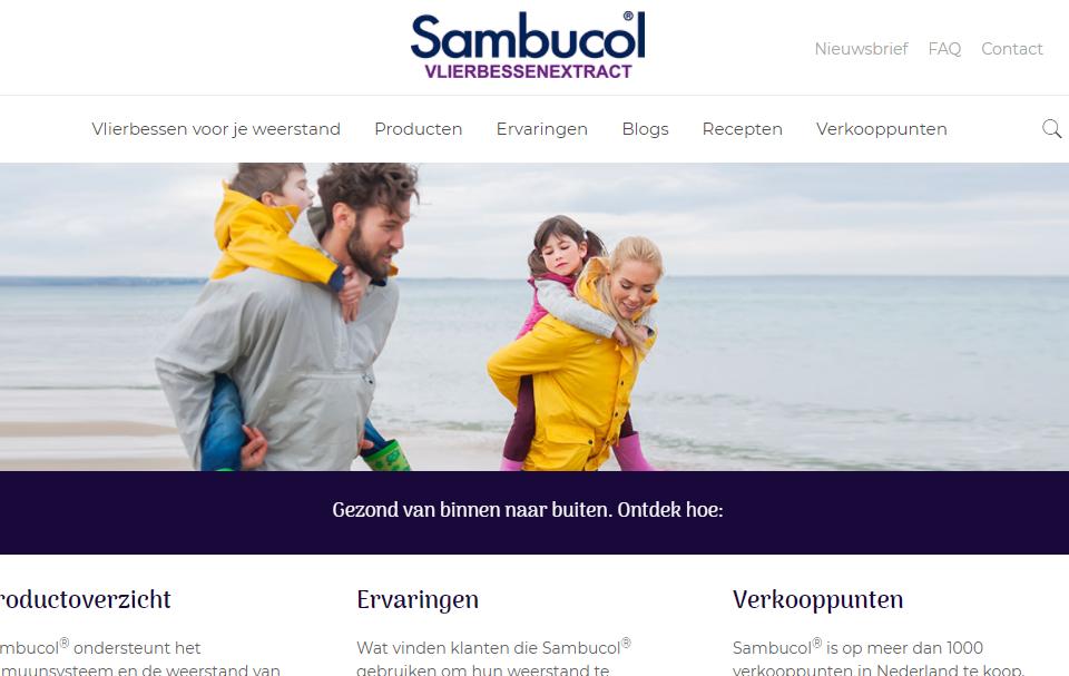 Sambucol vlierbessenextract krijgt nieuwe website