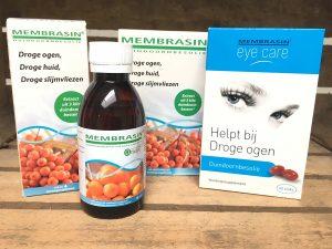Membrasin met duindoorbessen helpt bij droge ogen, droge huid en droge slijmvliezen